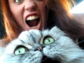 Screaming Cat With Owner